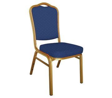 Εικόνα της Καρέκλα Συνεδρίου- Catering Μεταλλική στοιβαζόμενη Hilton, 45x62 cm