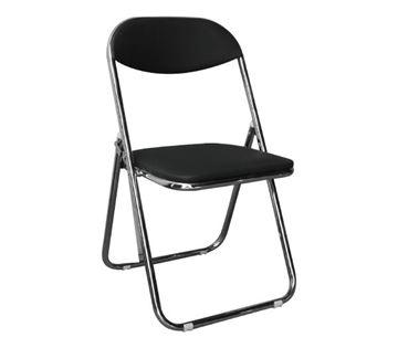 Εικόνα της Καρέκλα Πτυσσόμενη Συνεδρίου- Catering STAR Μαύρη 39x39 cm, συσκευασία 4 τεμαχίων