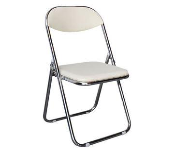 Εικόνα της Καρέκλα Πτυσσόμενη Συνεδρίου- Catering STAR Λευκή 39x39 cm, συσκευασία 4 τεμαχίων
