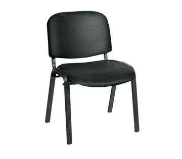 Εικόνα της Καρέκλα επισκέπτη SIGMA Μαύρη χωρίς μπράτσα, συσκευασία 6 τεμαχίων