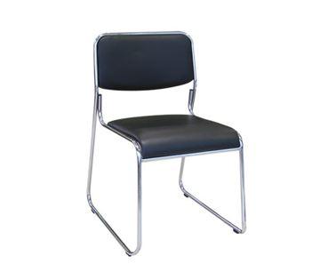 Εικόνα της Καρέκλα Στοιβαζόμενη CAMPUS, Μαύρη