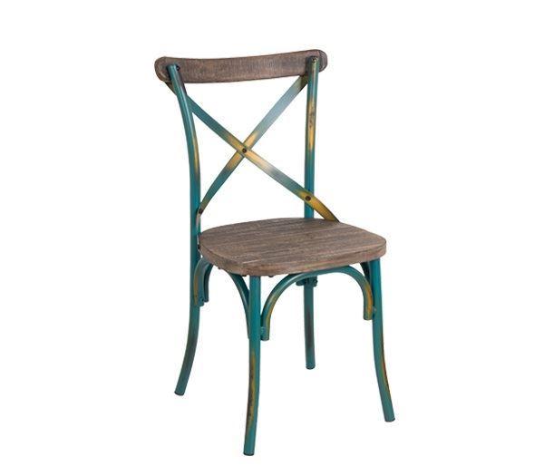 Εικόνα της Καρέκλα Destiny Wood, Antique Turquoise Ε5189,70