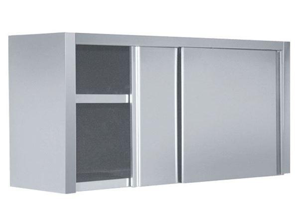 Εικόνα της Πιατοθήκη με inox πόρτες συρόμενες 130x40x72 cm