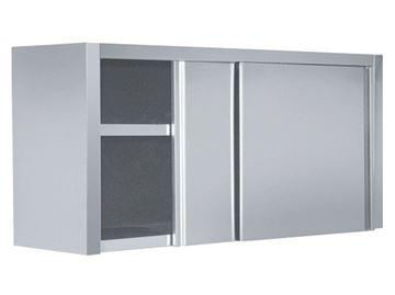 Εικόνα της Πιατοθήκη με inox πόρτες συρόμενες 150x40x72 cm