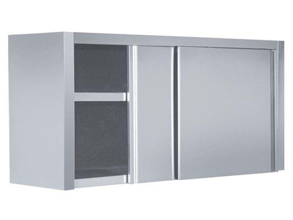 Εικόνα της Πιατοθήκη με inox πόρτες συρόμενες 180x40x72 cm