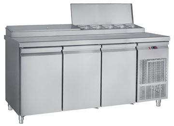 Εικόνα της Ψυγείο Πάγκος Σαλατών- Πίτσας Συντήρηση με 3 πόρτες GN 1.85 m