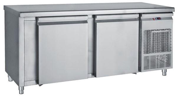 Εικόνα της Ψυγείο Πάγκος Συντήρηση με 2 πόρτες μεγάλες με ψυκτικό μηχάνημα 1.85 m