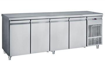 Εικόνα της Ψυγείο Πάγκος Συντήρηση με 4 πόρτες GN με ψυκτικό μηχάνημα 2.39 m