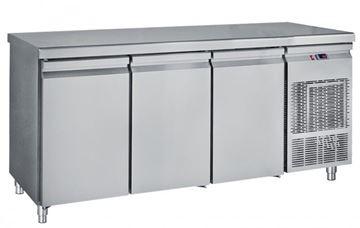 Εικόνα της Ψυγείο Πάγκος Συντήρηση με 3 πόρτες GN με ψυκτικό μηχάνημα 1.85 m