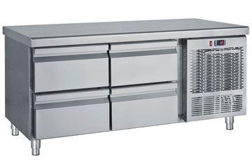 Εικόνα της Ψυγείο Πάγκος Χαμηλό Συντήρηση με 4 συρτάρια GN 1.39 m