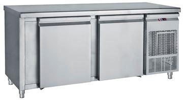 Εικόνα της Ψυγείο Πάγκος Κατάψυξη με 2 πόρτες μεγάλες με ψυκτικό μηχάνημα 1.85 m
