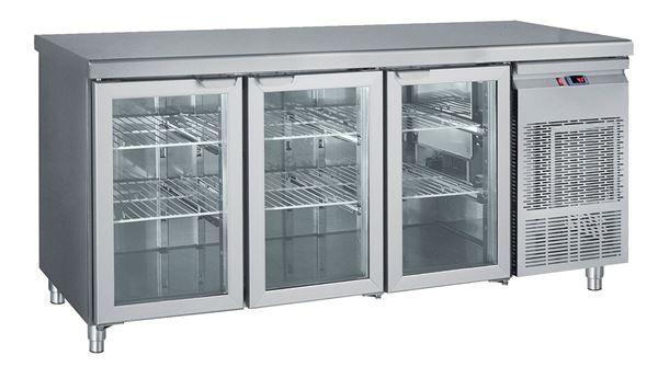Εικόνα της Ψυγείο Πάγκος Συντήρηση με 3 πόρτες τζαμιού GN 1.85 m