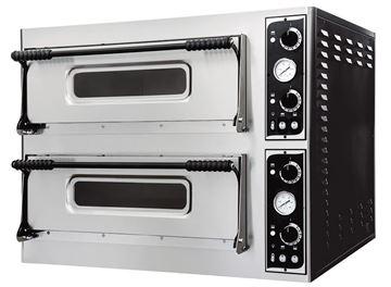 Εικόνα της Φούρνος Πίτσας Ηλεκτρικός BASIC 44 PRISMA FOOD, 2 όροφοι για 4+4 πίτσες φ32 εκ