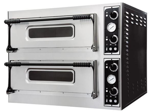 Εικόνα της Φούρνος Πίτσας Ηλεκτρικός BASIC XL 66L PRISMA FOOD, 2 όροφοι για 6+6 πίτσες φ35 εκ