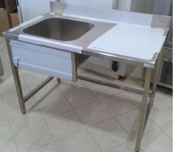 Εικόνα της Λάντζα ανοιχτή 120x70x87 cm με 1 γούρνα 50x50 cm & θέση για πλυντήριο