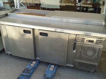 Εικόνα της Ψυγείο Πάγκος Σαλατών-Πίτσας Συντήρηση με 2 πόρτες μεγάλες 1.90 m