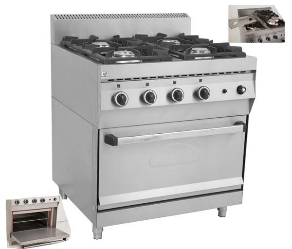 Εικόνα της Κουζίνα Υγραερίου 4 Εστιών και Φούρνος F GAS E400, North