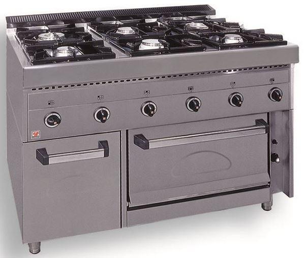 Εικόνα της Κουζίνα Υγραερίου 6 Εστιών και Φούρνος F GAS E6, North