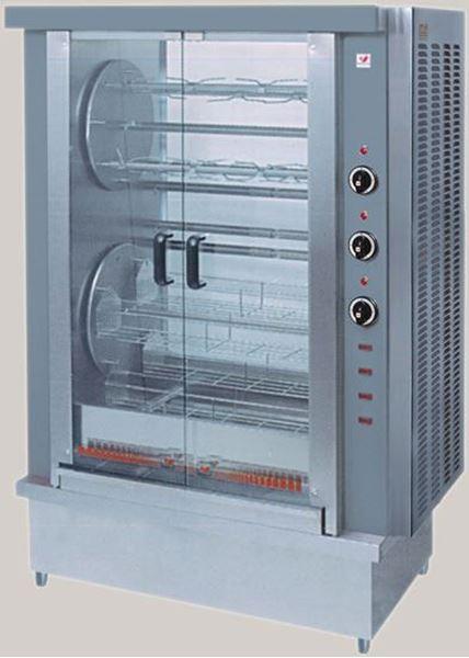 Εικόνα της Κοτοπουλιέρα Ηλεκτρική Περιστροφική με 8 καλάθια ή 8 σούβλες HK 2Τ, για 32-40 κοτόπουλα North