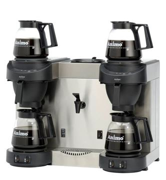 Εικόνα της Μηχανή καφέ φίλτρου διπλή με ζεστό νερό ANIMO M 202W, για 288 φλυτζάνια/ 36lt καφέ & 168 φλυτζάνια/ 21lt νερό