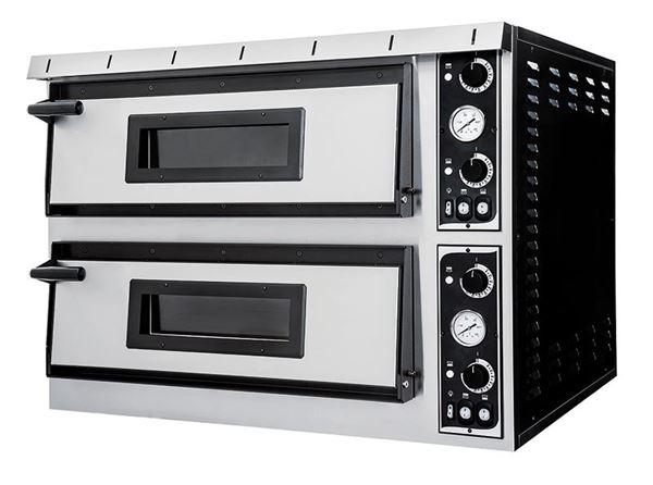 Εικόνα της Φούρνος Πίτσας Ηλεκτρικός PLUS XL 66 PRISMA FOOD, 2 όροφοι για 6+6 πίτσες φ35 cm