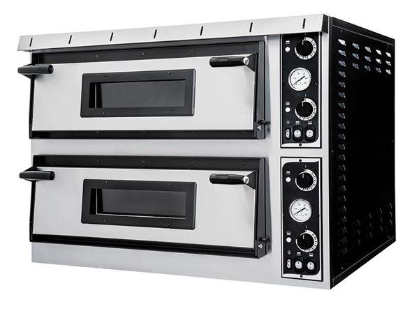 Εικόνα της Φούρνος Πίτσας Ηλεκτρικός PLUS XL 99 PRISMA FOOD, 2 όροφοι για 9+ 9 πίτσες φ35 cm