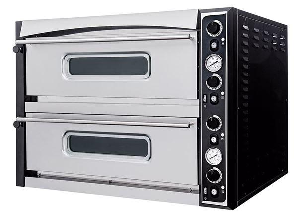 Εικόνα της Φούρνος Πίτσας Ηλεκτρικός SUPERIOR XL 66 PRISMA FOOD, 2 όροφος για 6+ 6 πίτσες φ35 cm