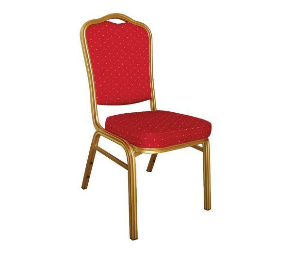 Εικόνα της Καρέκλα Συνεδρίου- Catering Μεταλλική στοιβαζόμενη Hilton, 44x56 cm