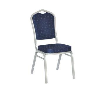 Εικόνα της Καρέκλα Συνεδρίου- Catering Μεταλλική στοιβαζόμενη Silver Hilton, 45x62 cm