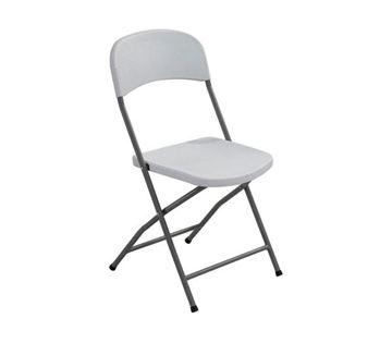 Εικόνα της Καρέκλα Πτυσσόμενη Συνεδρίου- Catering Streamy Λευκή 49x48 cm, συσκευασία 6 τεμαχίων