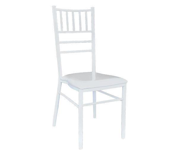 Εικόνα της Καρέκλα Συνεδρίου- Catering Μεταλλική Λευκή Ilona, 37x49 cm