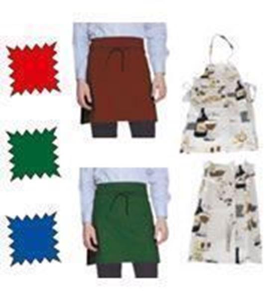 Εικόνα της Ποδιά σερβιτόρου μισή πράσινη με τσέπη