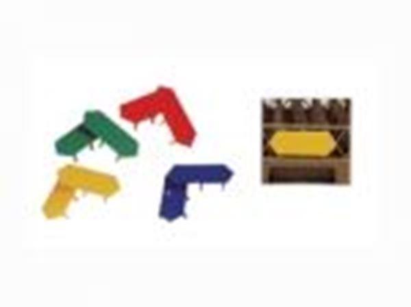 Εικόνα της Καρτελάκι ΡΡ πιάστρα καλαθιών 4 χρώματα