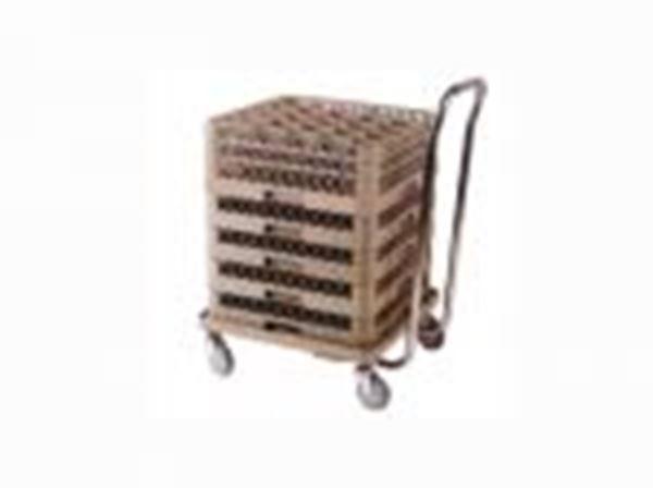Εικόνα της Τρόλεϊ μεταφοράς καλαθιών με inox λαβή