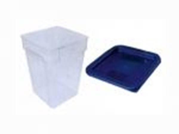 Εικόνα της Δοχείο φύλαξης ΡΡ τετράγωνο 22 lt 28,5x28,5x40 cm