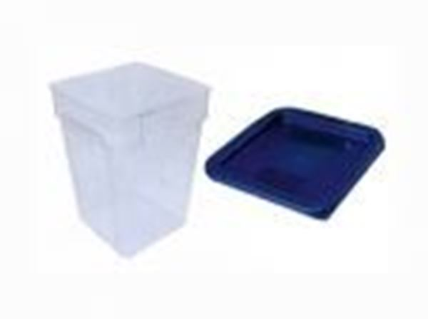 Εικόνα της Δοχείο φύλαξης ΡΡ τετράγωνο 18 lt 28,5x28,5x32 cm