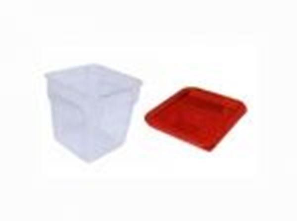 Εικόνα της Καπάκι δοχείου φύλαξης ΡΡ κόκκινο 23x23x1,5 cm