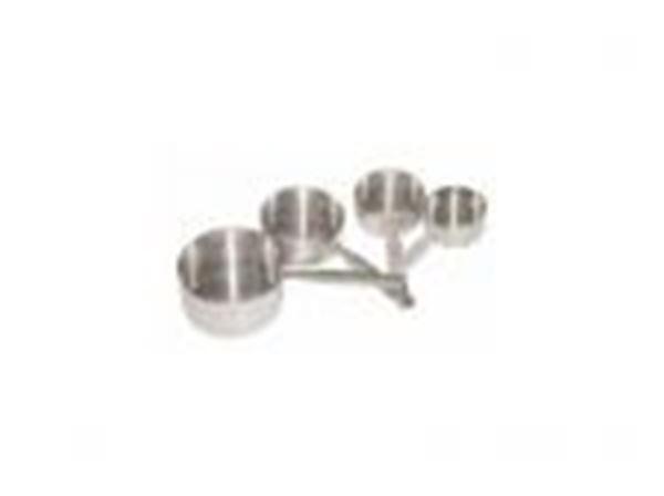 Εικόνα της Μεζούρες μαγείρων inox σετ 4 τεμ. 236 ml - 118 ml - 78 ml - 59 ml