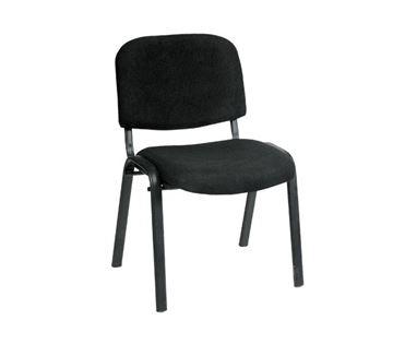 Εικόνα της Καρέκλα Επισκέπτη SIGMA Μαύρη, συσκευασία 6 τεμαχίων