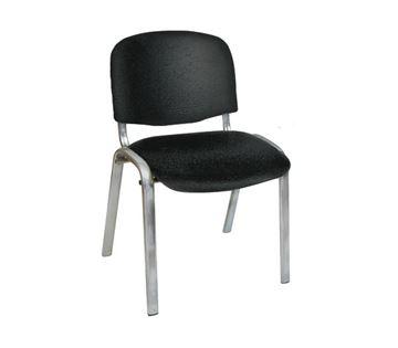 Εικόνα της Καρέκλα επισκέπτη SIGMA Μαύρα χωρίς μπράτσα, συσκευασία 6 τεμαχίων