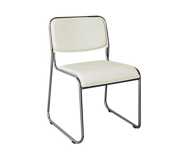 Εικόνα της Καρέκλα Στοιβαζόμενη CAMPUS, Εκρού
