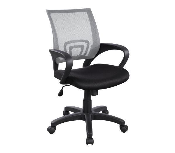 Εικόνα της Πολυθρόνα Γραφείου BF2101, Γκρι- Μαύρο