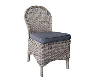 Εικόνα της Καρέκλα MONTANA Wicker Grey- Brown, συσκευασία 2 τεμαχίων