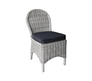 Εικόνα της Καρέκλα MONTANA Wicker Grey- White, συσκευασία 2 τεμαχίων