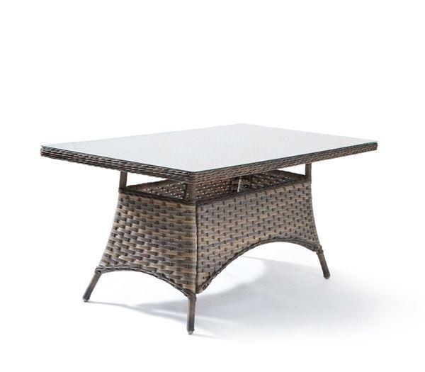 Εικόνα της Τραπέζι PALMYRA, Wicker Καφέ-Γκρι