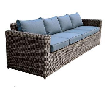 Εικόνα της Καναπές 4-θέσιος ARIZONA, Wicker Grey- Brown