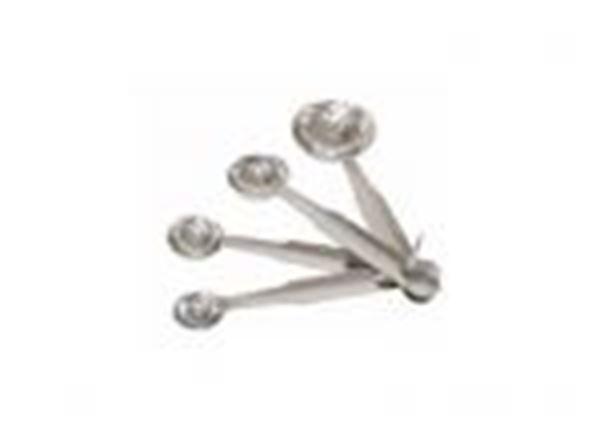 Εικόνα της Μεζούρες κουτάλια μαγείρων σετ 4 τεμ. 1κ.φ. - 1κ.γ. - 1/2κ.γ. - 1/4κ.γ.