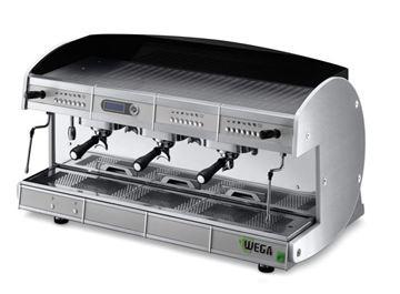 Εικόνα της Μηχανή Espresso Αυτόματη Δοσομετρική 4 Group Concept EVD 4 Total  color WEGA b79b0217d7b
