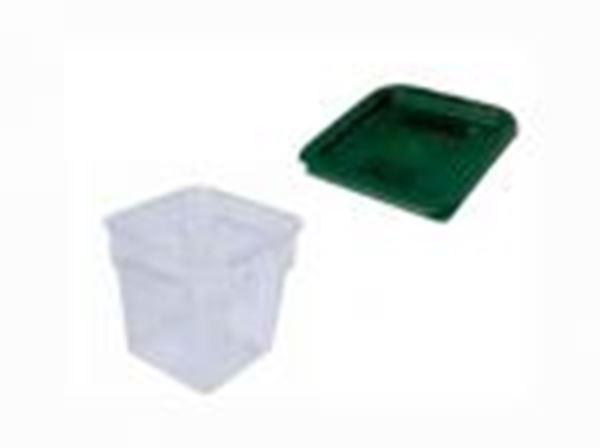 Εικόνα της Καπάκι δοχείου φύλαξης ΡΡ πράσινο 18.7x18.7x1,5 cm