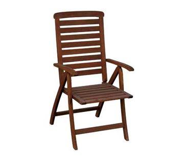 Destiny wood garden chair steel antique turquoise Ε5189,70